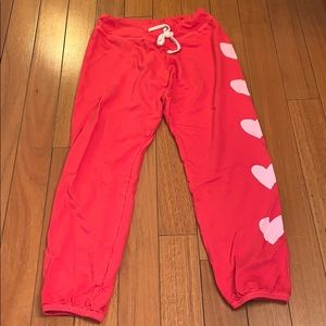 Sundry sweats pants red